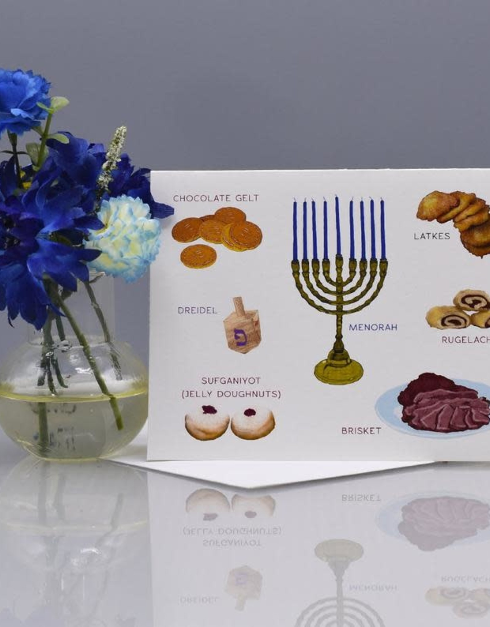 Seas and Peas Hanukkah Traditions Greeting Card