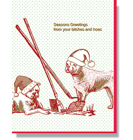 Smitten Kitten Bitches and Hoes Holiday Card