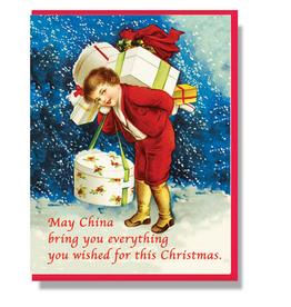May China Bring You Everything Christmas Greeting Card
