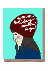 Girl in Hat Holiday Greeting Card