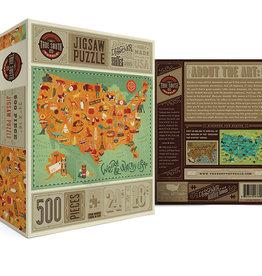 True South Puzzle Co. Weird & Wacky USA 500 Piece Puzzle