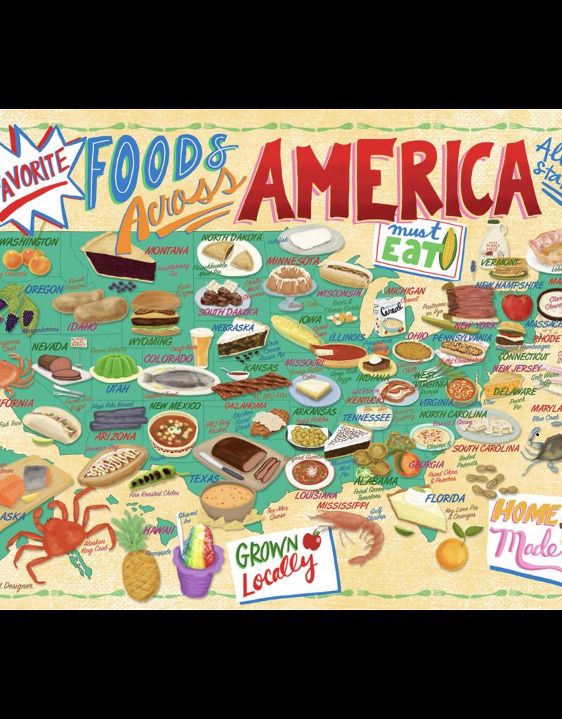 True South Puzzle Co. Food Across America 500 Piece Puzzle