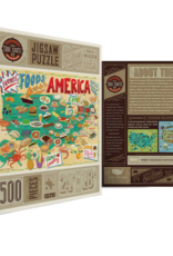 True South Puzzle Co. Food Across America 500 Piece Puzzle