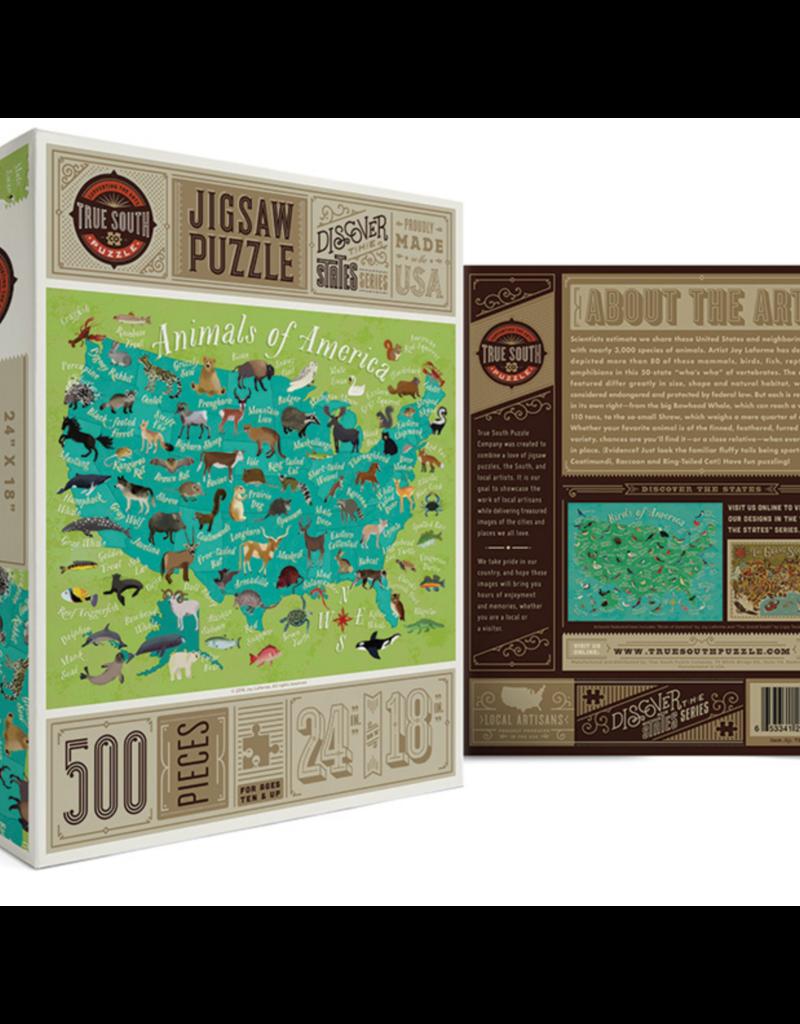 True South Puzzle Co. Animals of America 500 Piece Puzzle