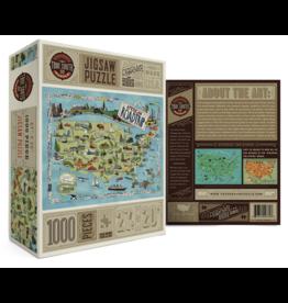 True South Puzzle Co. American Road Trip 500 Piece Puzzle