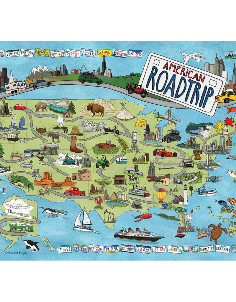 True South Puzzle Co. American Road Trip 500 Piece Puzzle