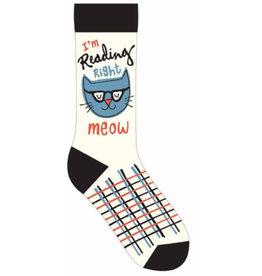 Gibbs Smith I'm Reading Right Meow Socks
