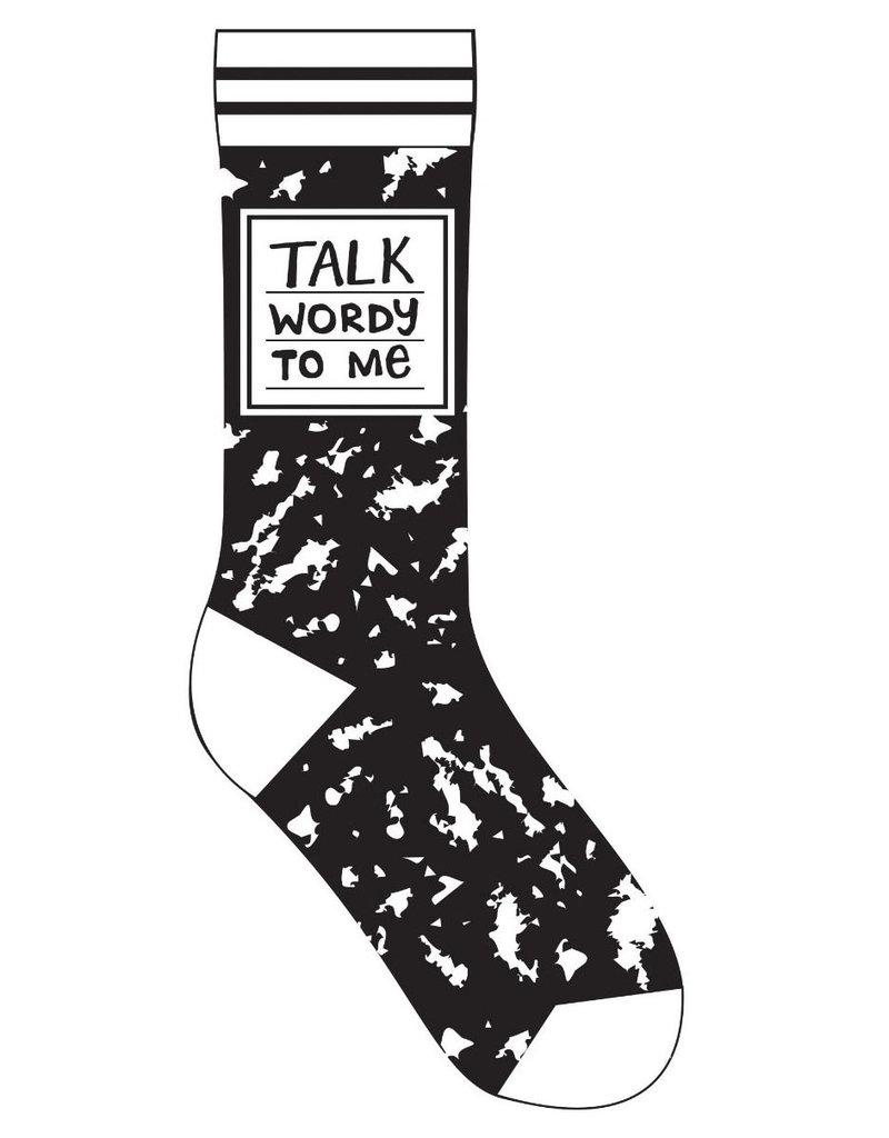 Gibbs Smith Talk Wordy to Me Socks