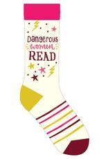 Gibbs Smith Dangerous Women Read Socks