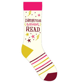 Gibbs Smith Dangerous Women Read Socks