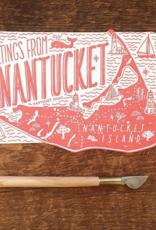 Nantucket Die Cut Postcard