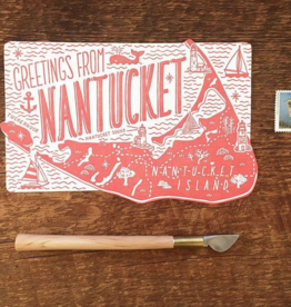 Noteworthy Paper & Press Nantucket Die Cut Postcard