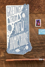 New Hampshire Die Cut Postcard