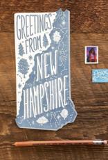 Noteworthy Paper & Press New Hampshire Die Cut Postcard