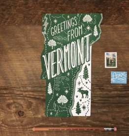 Noteworthy Paper & Press Vermont Die Cut Postcard