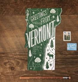 Vermont Die Cut Postcard