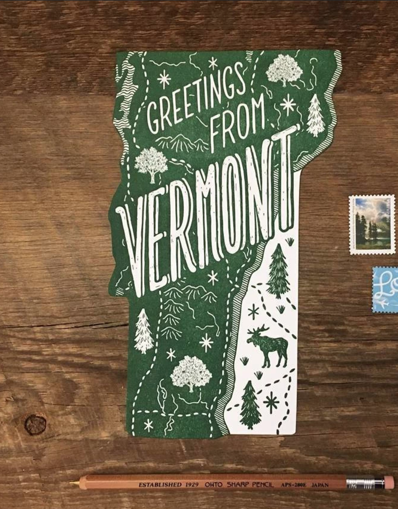 Noteworthy Paper & Press Vermont Die Cut Postcard