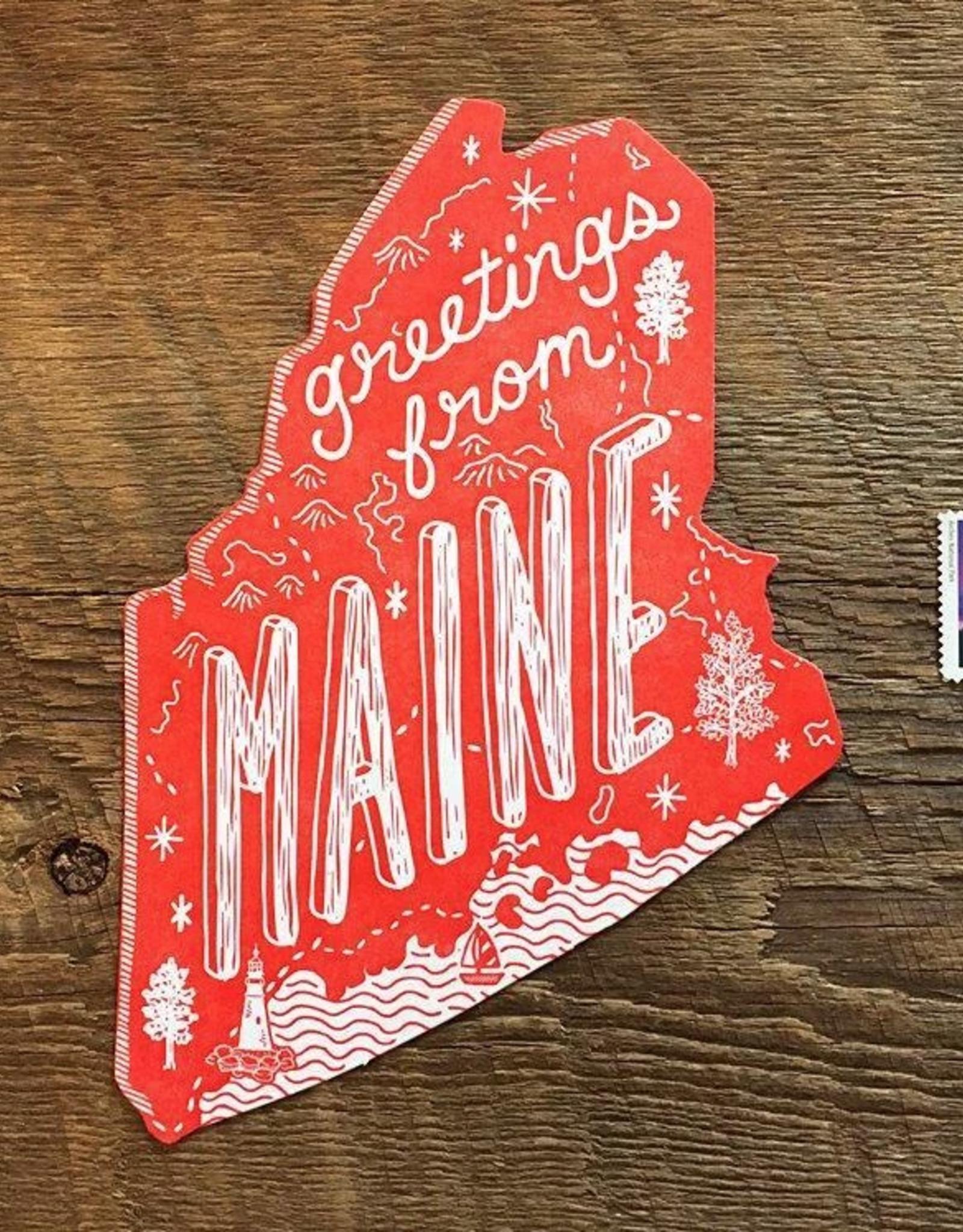 Maine Die Cut Postcard