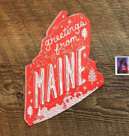 Maine Die Cut Postcard