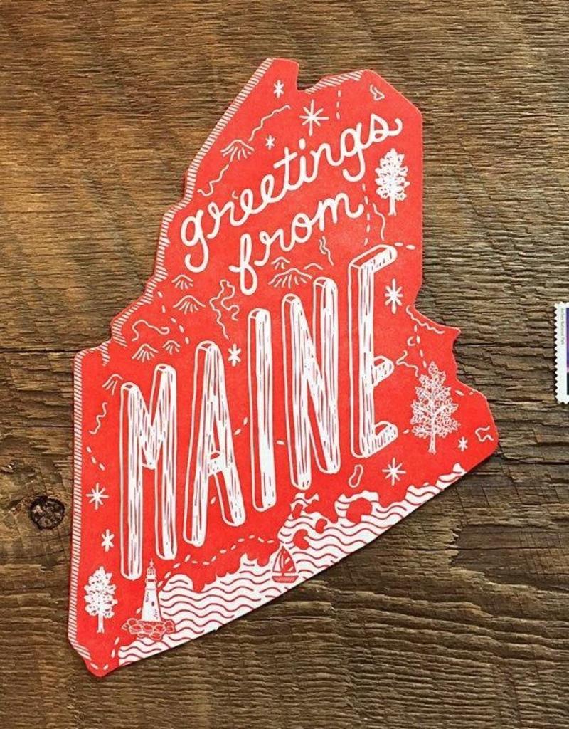Noteworthy Paper & Press Maine Die Cut Postcard