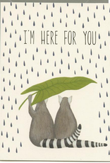 I'm Here For You Lemur Greeting Card