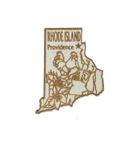 Sojourn Souvenirs Laser Cut Wood Rhode Island Magnet