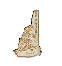 Sojourn Souvenirs Laser Cut Wood New Hampshire Magnet