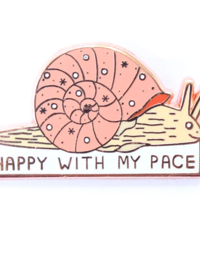 Tender Ghost Happy With My Pace Snail Pin