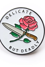 Tender Ghost Delicate But Deadly Knife & Rose Pin