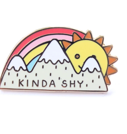 Kinda Shy Sun & Mountains Pin