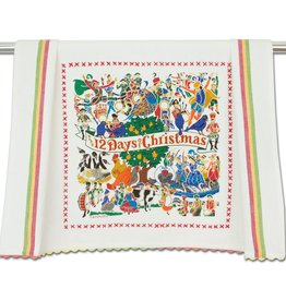 Catstudio 12 Days of Christmas Dish Towel