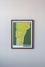 Vermont Map Print