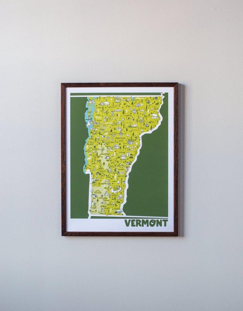 Brainstorm Vermont Map Print
