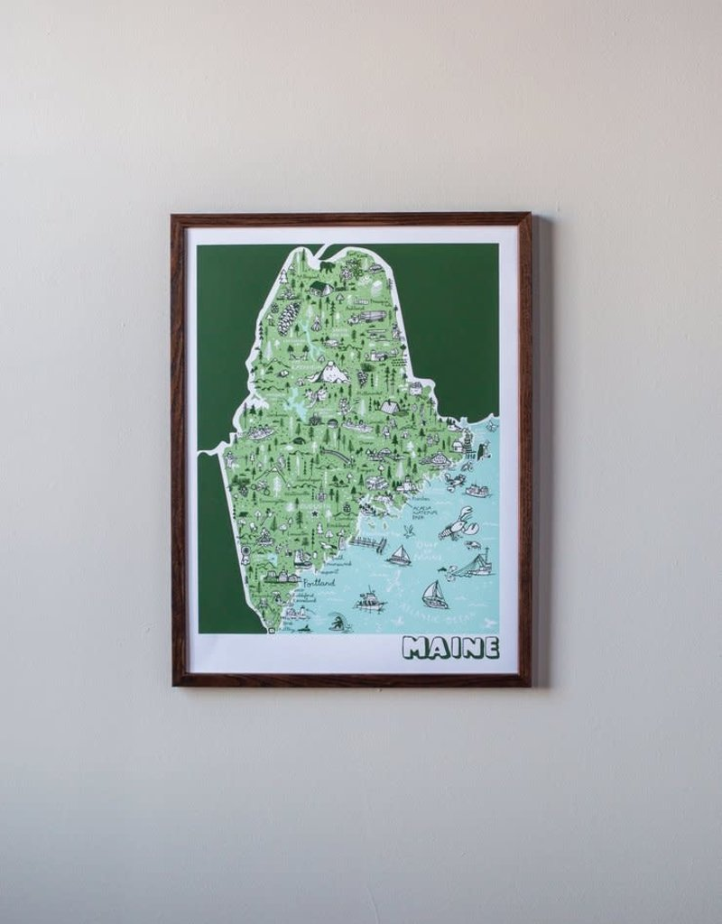 Brainstorm Maine Map Print