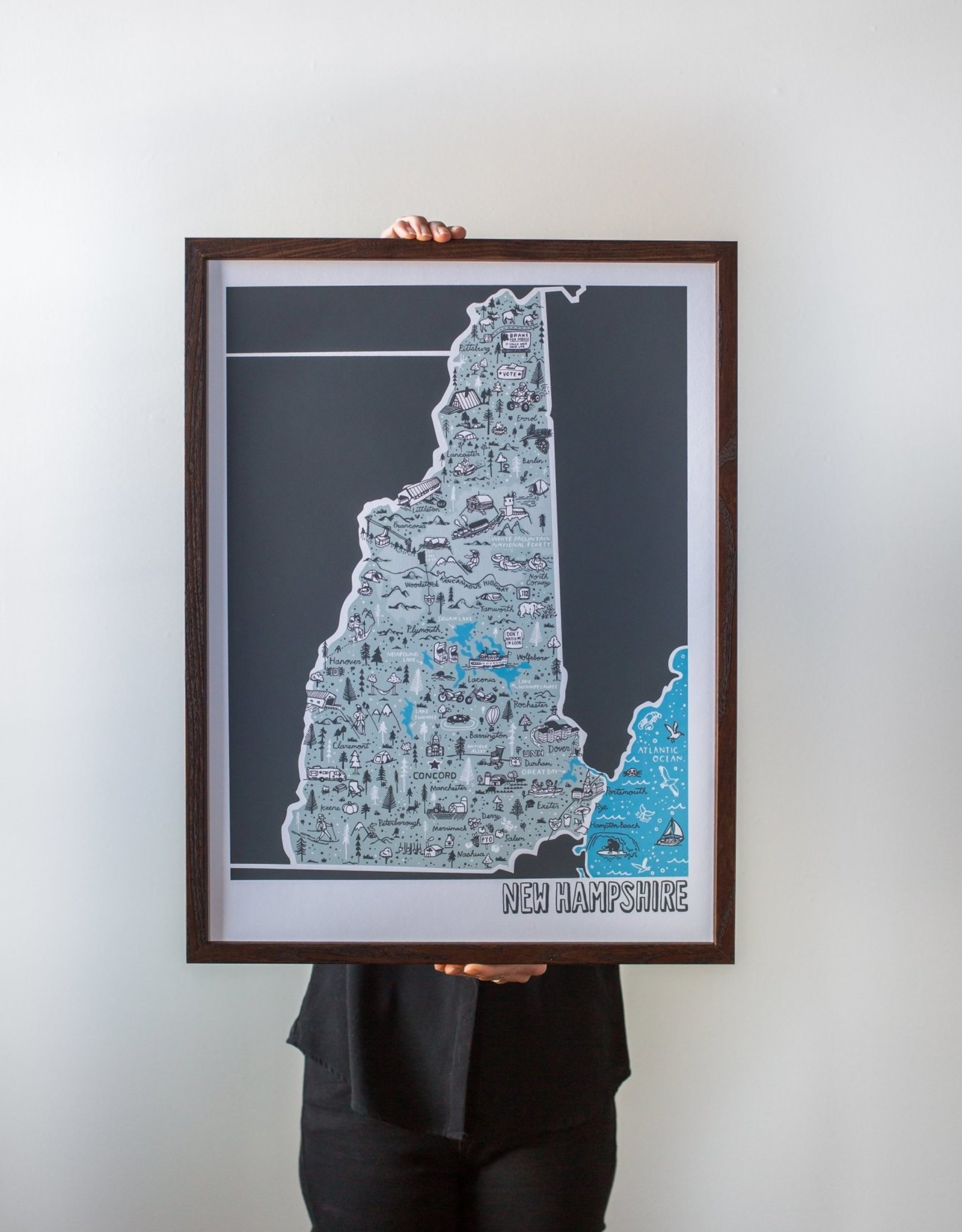 New Hampshire Map Print