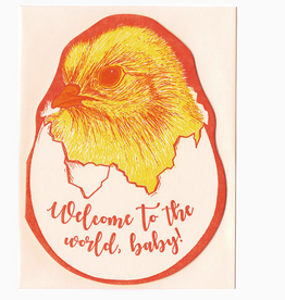 Blackbird Letterpress Welcome to the World Baby Chick Greeting Card