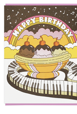 Lucky Horse Press Happy Birthday Musical Banana Split Greeting Card