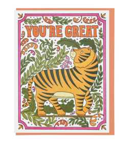 Lucky Horse Press You're Great Tiger Greeting Card