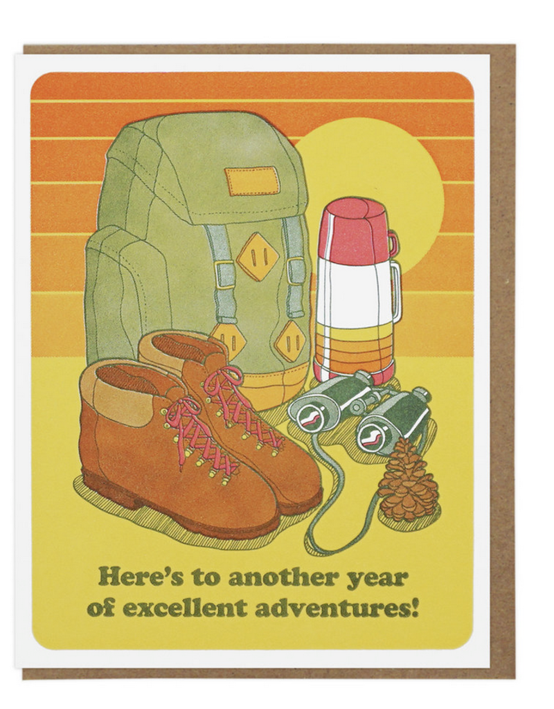 Lucky Horse Press Excellent Adventures Birthday Greeting Card