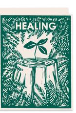 Healing Nurse Tree Greeting Card