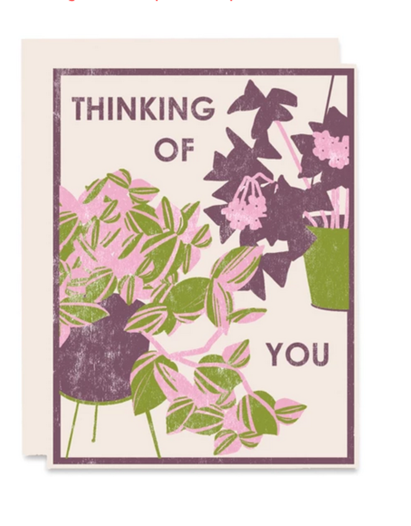 Heartell Press, LLC Thinking of You Houseplant Greeting Card