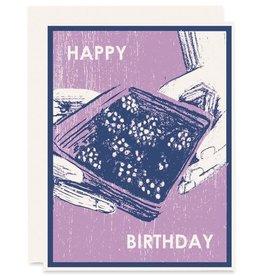 Happy Birthday Blackberries Greeting Card