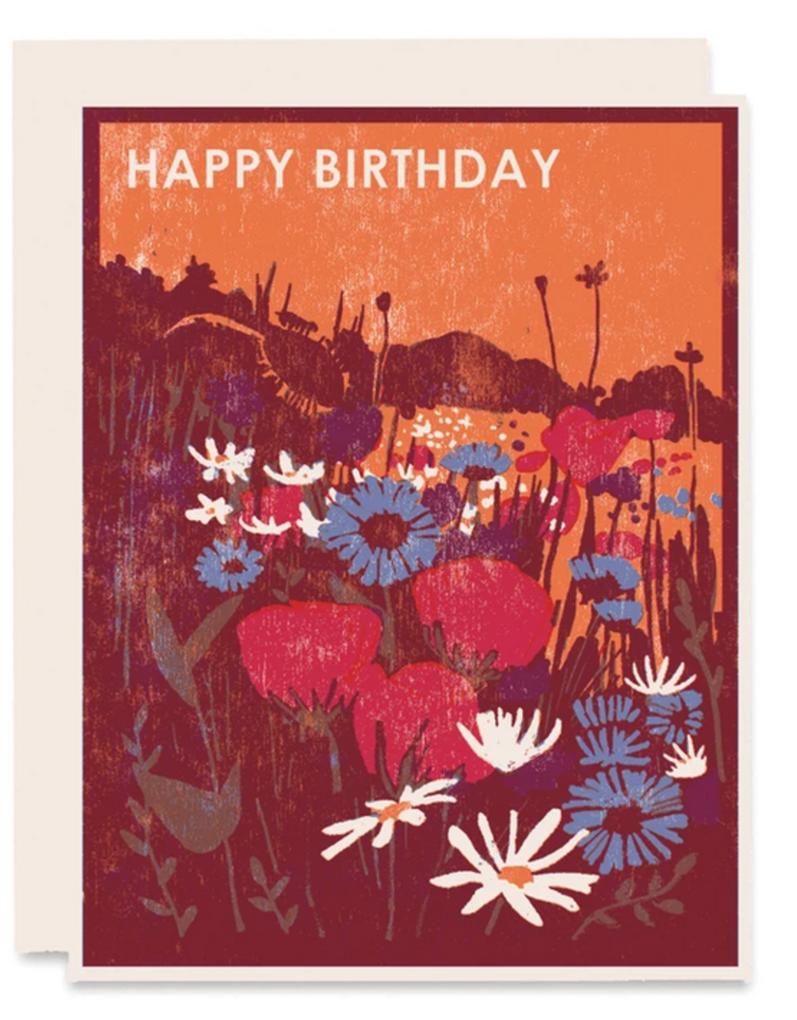 Happy Birthday Wildflowers Greeting Card