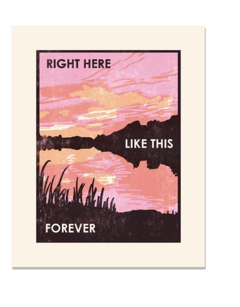 Heartell Press, LLC Right Here Like This Framed Print