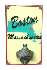 Boston MA Map Bottle Opener