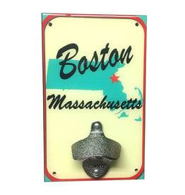 Boston MA Map Bottle Opener