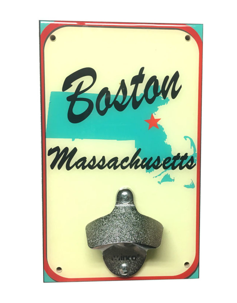 Rep-Air Boston MA Map Bottle Opener