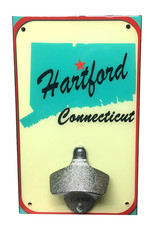 Hartford CT Map Bottle Opener