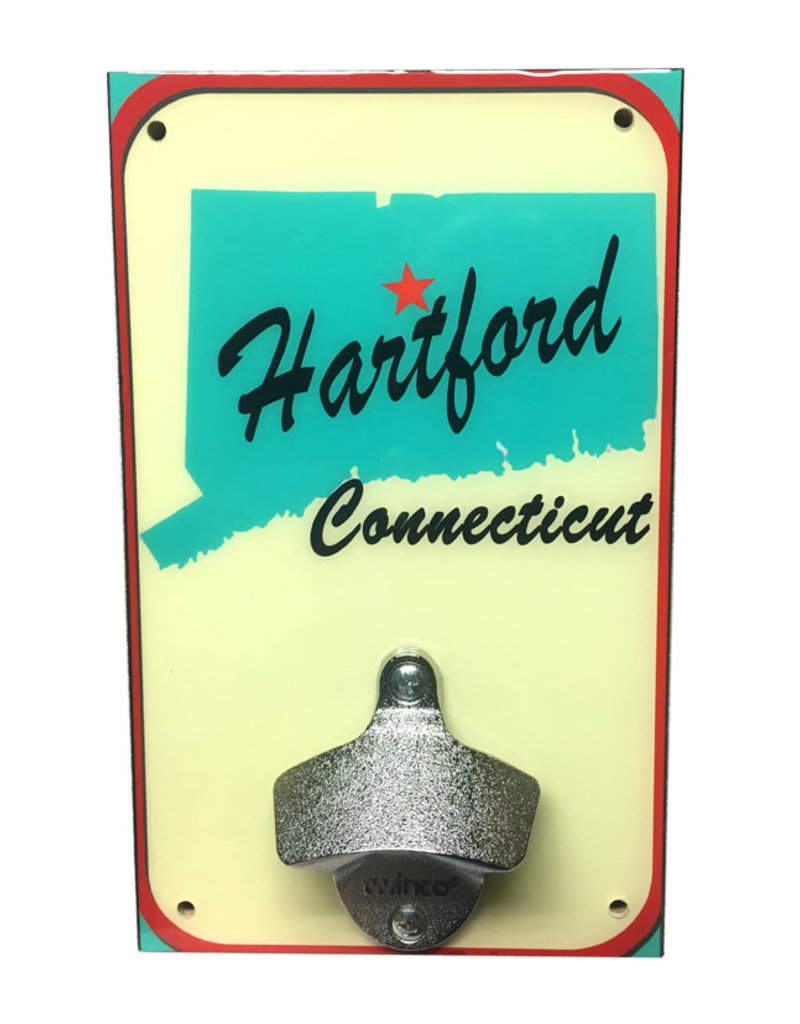 Rep-Air Hartford CT Map Bottle Opener