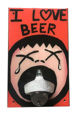 Rep-Air I Love Beer Bottle Opener